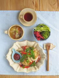ナポリタンの朝ごはん - 陶器通販・益子焼 雑貨手作り陶器のサイトショップ 木のねのブログ