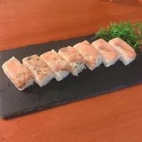 スモークサーモンで押し寿司 - いつもの食事に +1
