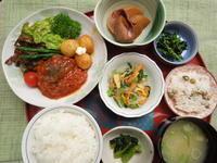 煮込みハンバーグ★(^^♪・・・・・700円ランチ - 日だまりカフェ