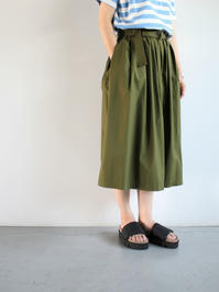 GRANDMA MAMA DAUGHTER BELTED EASY SKIRT - 『Bumpkins putting on airs』