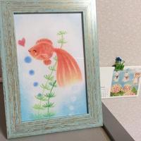 金魚ちゃん♡ - アトリエ絵くぼのパステルアート教室