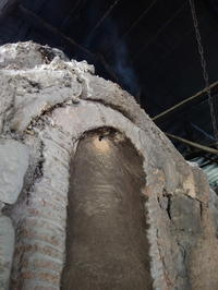 火が上がった - 日向の国の備長炭 奥井製炭所