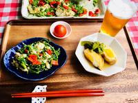 ガーリックソテー鱈のカラフルサラダ! - ワタシの呑日記
