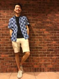今日は夏に向けて半袖シャツにショーツを合わせました。 - GEOGRAPHY TOYONAKA BLOG