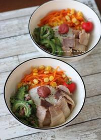 子育て中(≧ω≦)b ✿ Okinawan3色丼&ネバネバ丼♪ - **  mana's Kitchen **