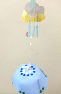 6月9日幼児クラス「紙のミニ傘モビール」 - 絵画教室アトリえをかく