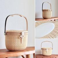 7inch Cocktail Purse with Lid - handvaerker ~365 days of Nantucket Basket~