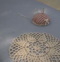 レース編みとグラスギャザリングのロングタイムレッスン - ヒバリのつぶやき