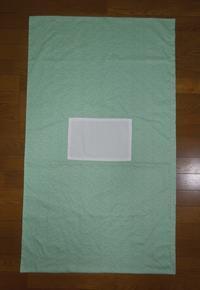 363.布団カバー(グリーン系) - フリルの子供服