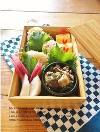 6.9 炊き込みおにぎり弁当&「今日のすき間埋めおかず」Vol.5 - YUKA'sレシピ♪