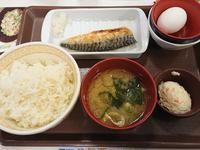 6/10  さばたまかけ朝食¥390@すき家 - 無駄遣いな日々