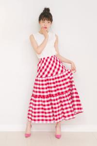 めちゃめちゃ可愛い!ダズリンのギンガムチェックマキシスカート♪#中村里帆 - *Ray(レイ) 系ほなみのブログ*