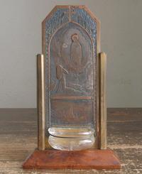 ルルドの聖母と少女ベルナデット 聖水盆 ベネティエ / F310 - Glicinia 古道具店