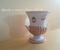 ミニな花瓶 見本完成☆ - Italian styleの磁器絵付け