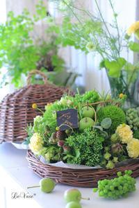 6月のLiving flowerクラスのレッスン - Le vase*  diary 横浜元町の花教室