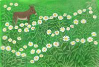 イラスト ヒメジョオンとロバの静かな世界 - 手製本クリエイター&切絵コラージュ作家 yukai の暮らしを愉しむヒント