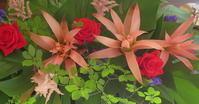 休日を温泉で過ごされるお客様への設え花。 - 長女Yのつれづれ記