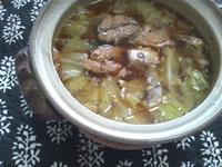 鯖缶とキャベツで、モツ鍋風 - Minha Praia