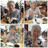 手巻き寿司&ところてん(5月デイサービス屋台) - たんぽぽ菱野の里