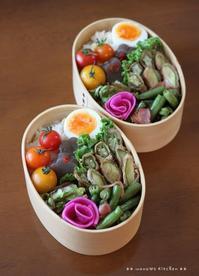 オクラとズッキーニの肉巻き ✿ 白菜豚キムチ(๑¯﹃¯๑)♪ - **  mana's Kitchen **