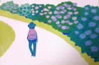 フラワーガーデン - たなかきょおこ-旅する絵描きの絵日記/Kyoko Tanaka Illustrated Diary