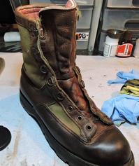 ブーツの革を染め直す - ぷんとの業務日報2ndGear