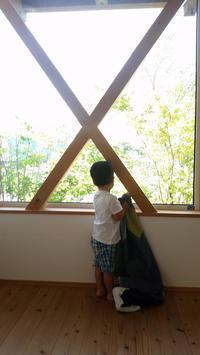 日曜日の朝 | 緑がきれい - 成長する家 子育て物語