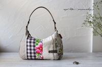 【はぎれ活用】台湾布をアクセントに布合わせのワンハンドルバッグ♪ - neige+ 手作りのある暮らし