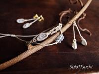 アーカンソー産ミニポイント水晶シリーズ、華奢ライン - Sola*Tsuchi  花とアクセサリー