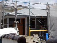 屋根頂部板金/外壁モルタル下地/方形の平屋/岡山 - 建築事務所は日々考える