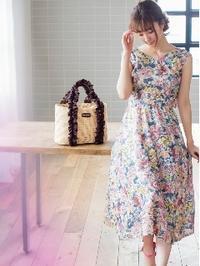 宮本茉由さん着用のミッシュマッシュの後ろリボン花柄ワンピースが大人気! - *Ray(レイ) 系ほなみのブログ*