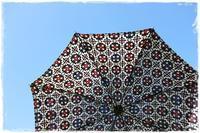 紫外線のピーク期到来!!人 と違うものが欲しいなら着物地リメイクの日傘がおススメ!! - 和がまぐち・和小物クリエイター 『リメイク』で大好きをもっと身近に♪ハンドメイドショップ『てしごと日月堂』店主のブログ