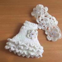 20センチドールサイズの夏ワンピセット - 編み好き@amiami通信