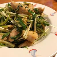 ササミとネギのポン酢サラダ@「行正り香の2皿ディナー」これからの時期(いつだよ)活躍だ! - Isao Watanabeの'Spice of Life'.