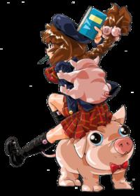豚さんといくちゃん イラストのみ - うちのスーパーのちょい変POP集