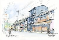 祇園博多町の街並み - 風と雲