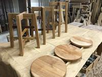 定番スツール 完成。 - 手作り家具工房の記録