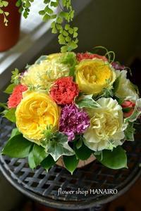 元気が出るビタミンカラーのフラワーアレンジメント♪ - 花色~あなたの好きなお花屋さんになりたい~