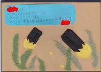 折り紙のホタル - ムッチャンの絵手紙日記