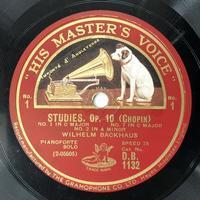 バックハウスのショパン:12の練習曲op.10 - シェルマン アートワークス 蓄音機blog