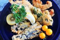 ■【イワシの大葉乗っけフライ&菜園野菜のフライ】 - 「料理と趣味の部屋」