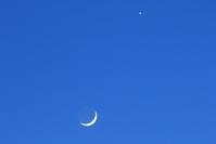今日の月 - 月の沙漠を
