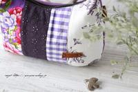 【台湾花布】はぎれ合わせで上品なワンハンドルバッグ♪4つ目はパープル♪ - neige+ 手作りのある暮らし