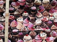 カップケーキ柄の布 - おさや糸店 岩倉市,名古屋市,小牧市,江南市,一宮市,春日井市,犬山市,稲沢市,北名古屋市