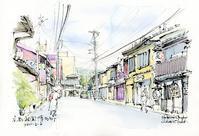 祇園博多町の風景 - 風と雲