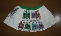 364.スニーカー柄のスカート - フリルの子供服