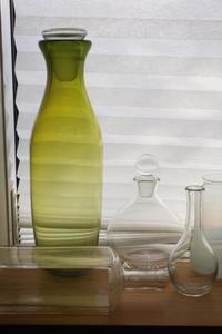 窓辺の風景 - 宙吹きガラスの器