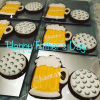 父の日のアイシングクッキーは、ビールとゴルフボール! - 黒豆日記