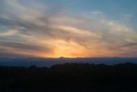 日没後の姿は - 東に向かえば海がある