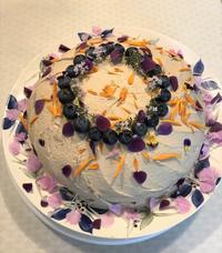 エディブルフラワーのケーキ - sola og planta ハーバリストの作業小屋